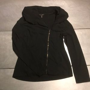 Banana republic zip up sweatshirt black - medium
